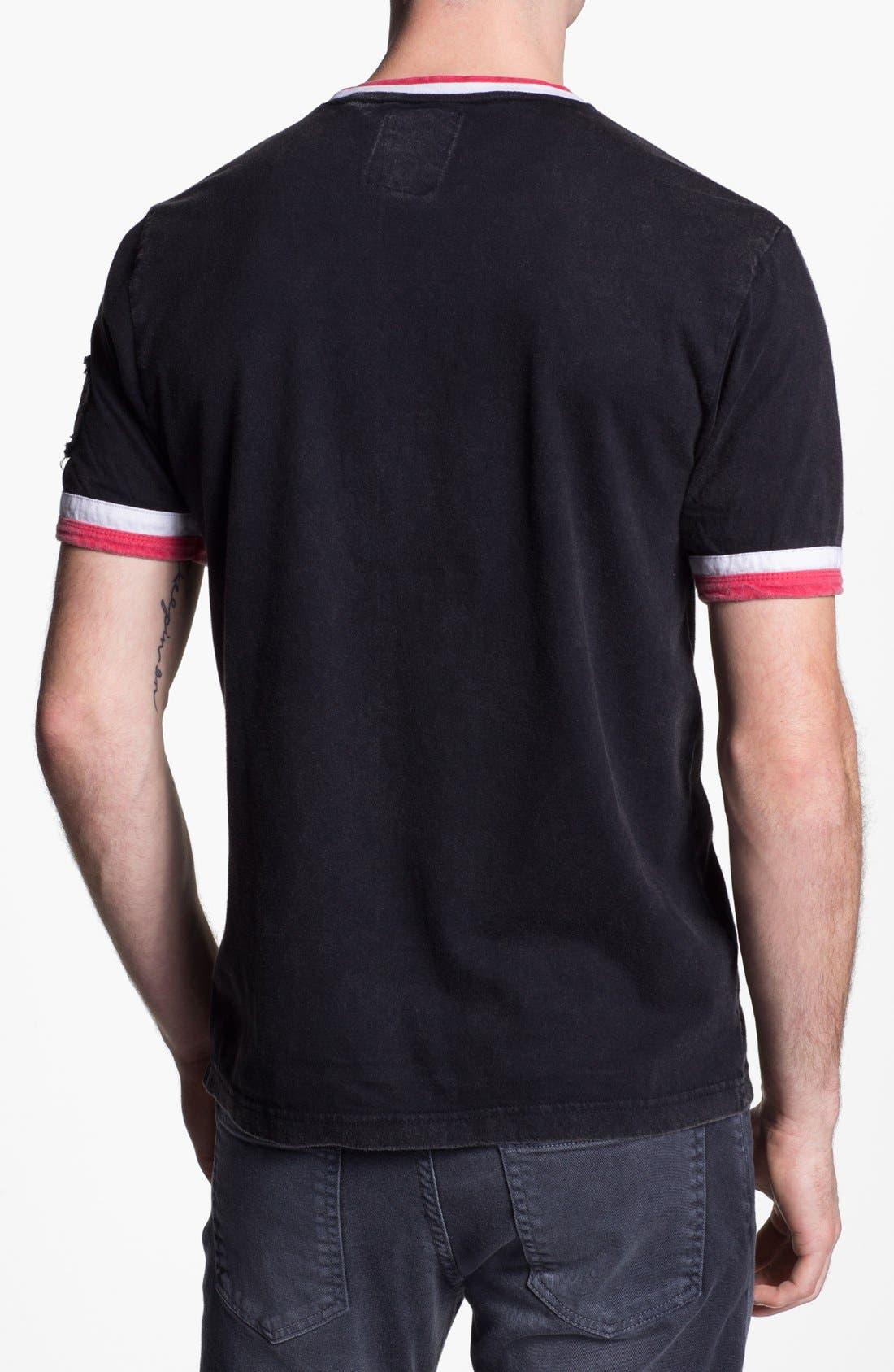 Alternate Image 2  - Red Jacket 'Cincinnati Reds' Trim Fit Crewneck Ringer T-Shirt