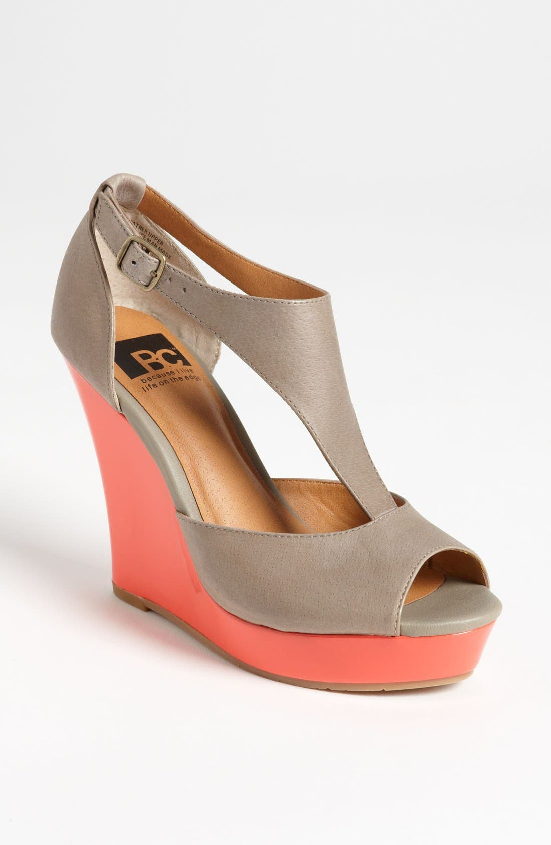 Alternate Image 1 Selected - BC Footwear 'Lickety Split' Wedge Sandal