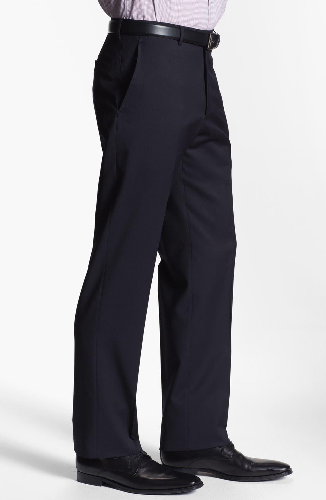 Alternate Image 5  - Armani Collezioni Flat Front Wool Trousers