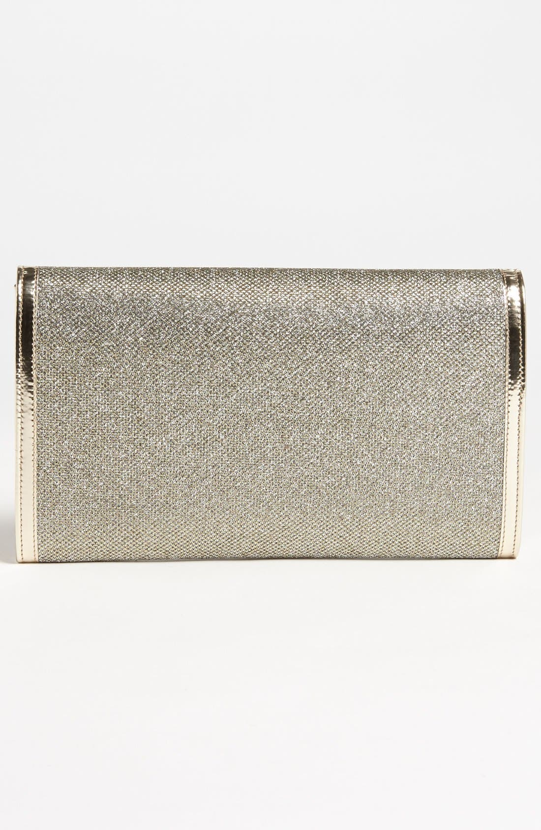 Alternate Image 4  - Jimmy Choo 'Reese - XL' Lamé Clutch