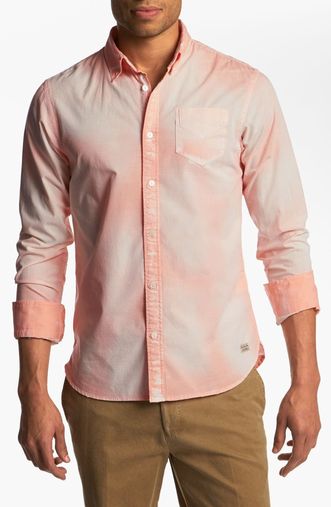 Alternate Image 1 Selected - Scotch & Soda Bleached Woven Shirt
