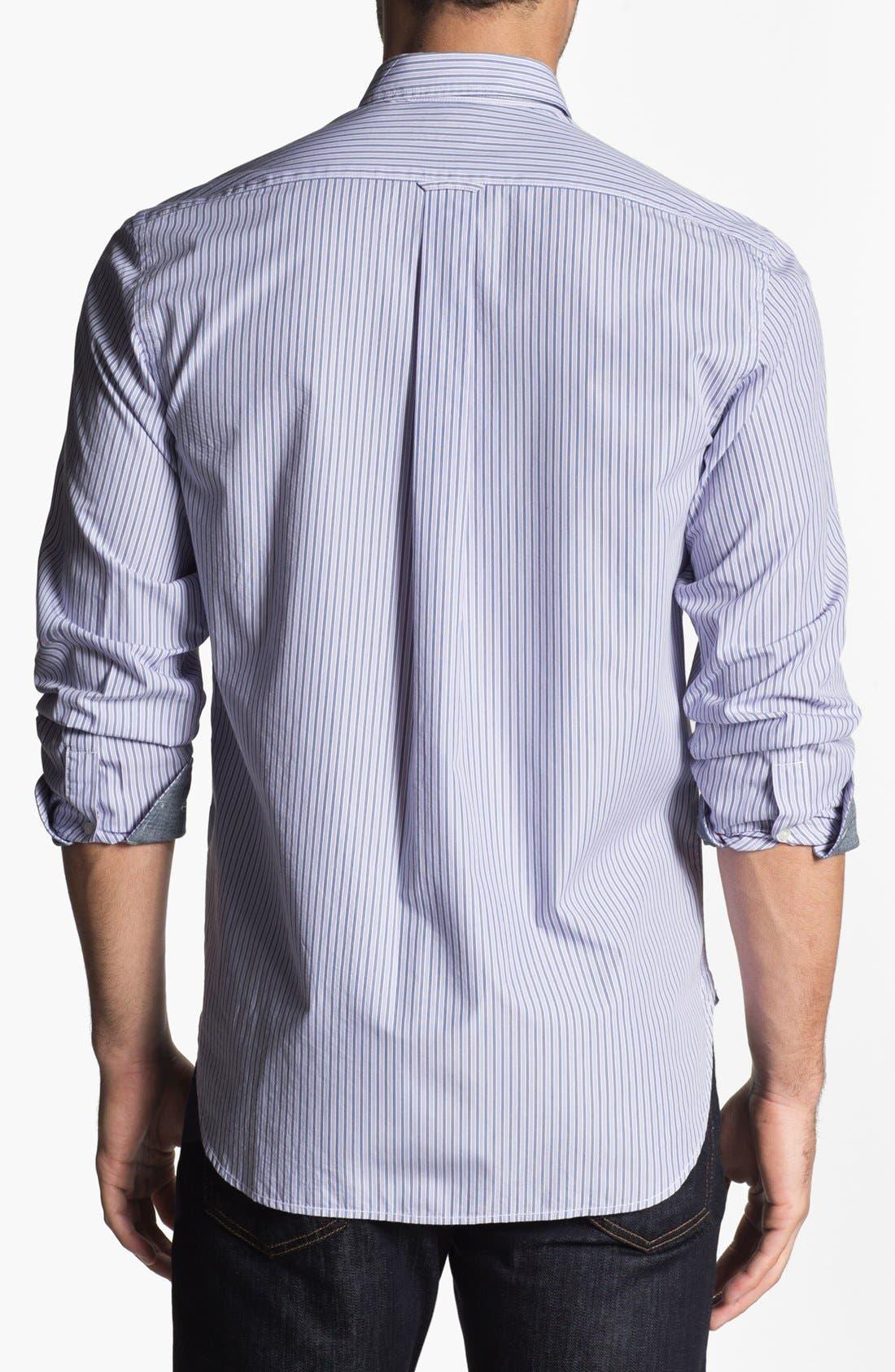 Alternate Image 2  - Façonnable Tailored Denim Sport Shirt