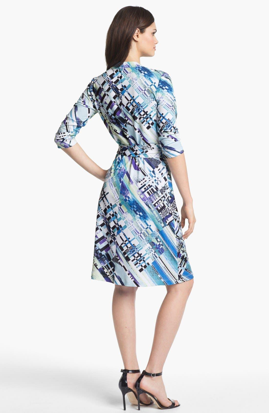 Alternate Image 2  - Alex & Ava Print Jersey Wrap Dress