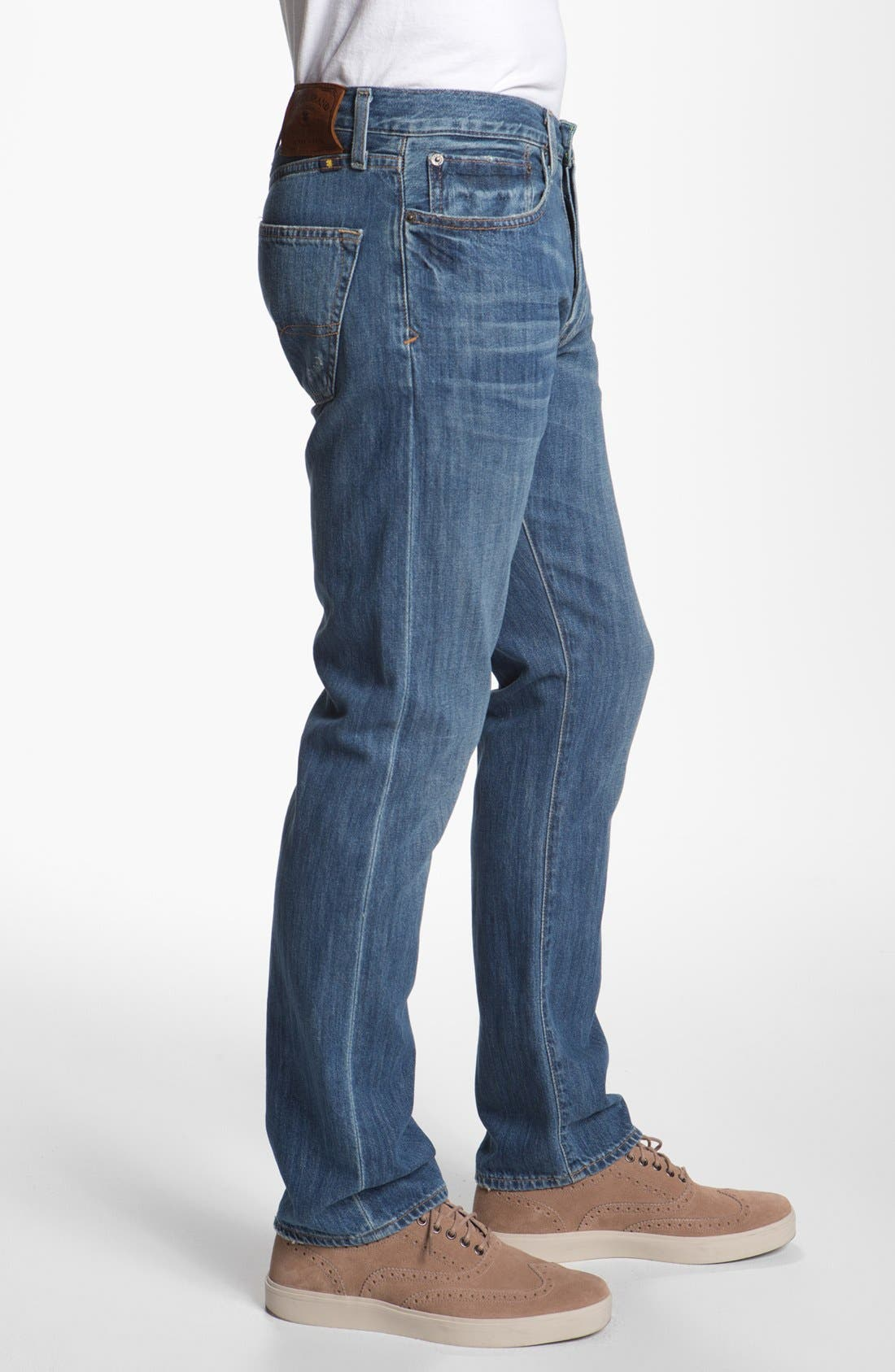 Alternate Image 3  - Lucky Brand '121 Heritage' Slim Straight Leg Jeans (Conejo)