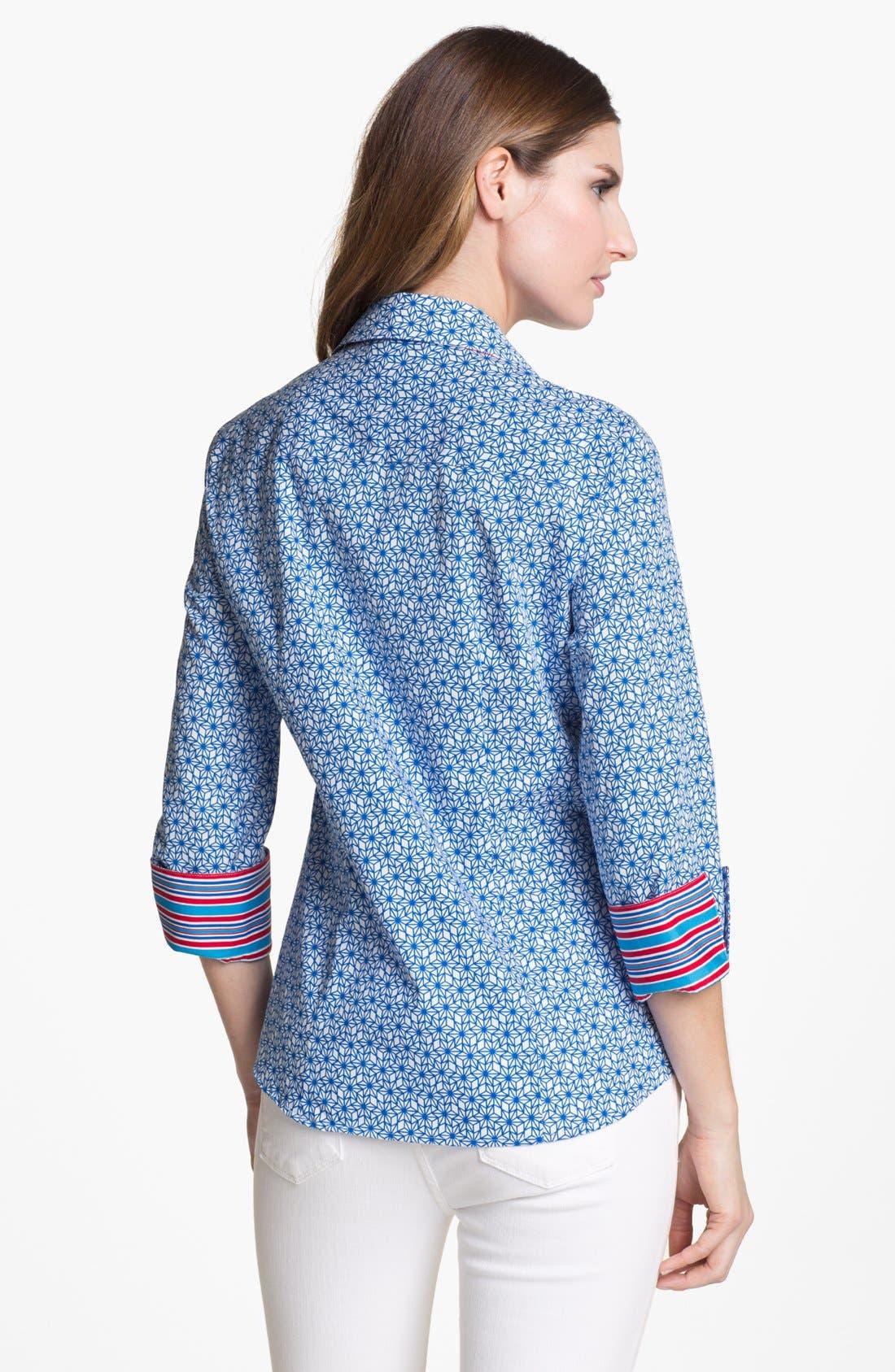 Alternate Image 2  - Foxcroft 'Stars and Stripes' Shaped Shirt