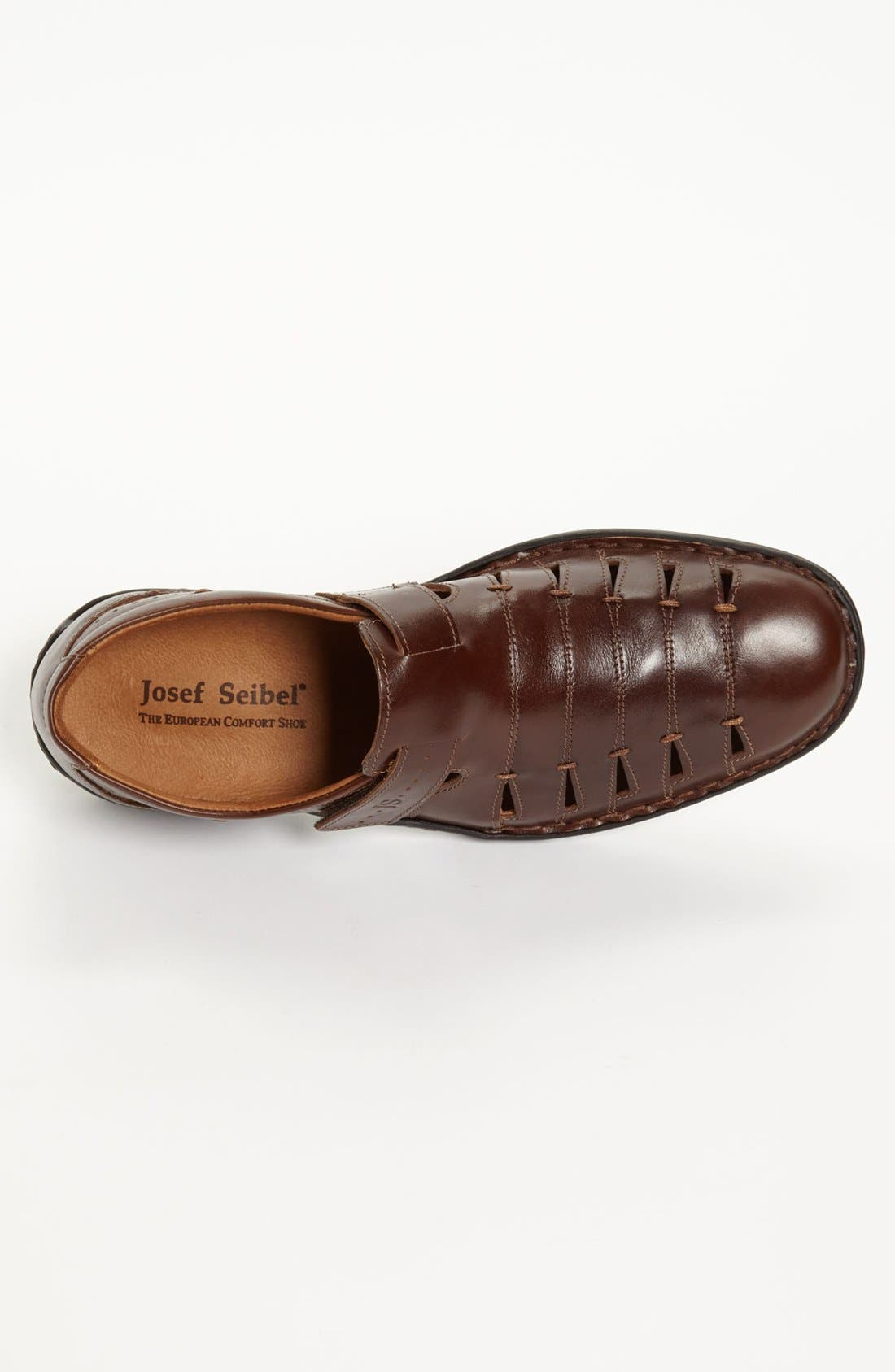 'Lionel 06' Sandal,                             Alternate thumbnail 3, color,                             Brown/ Brown Leather