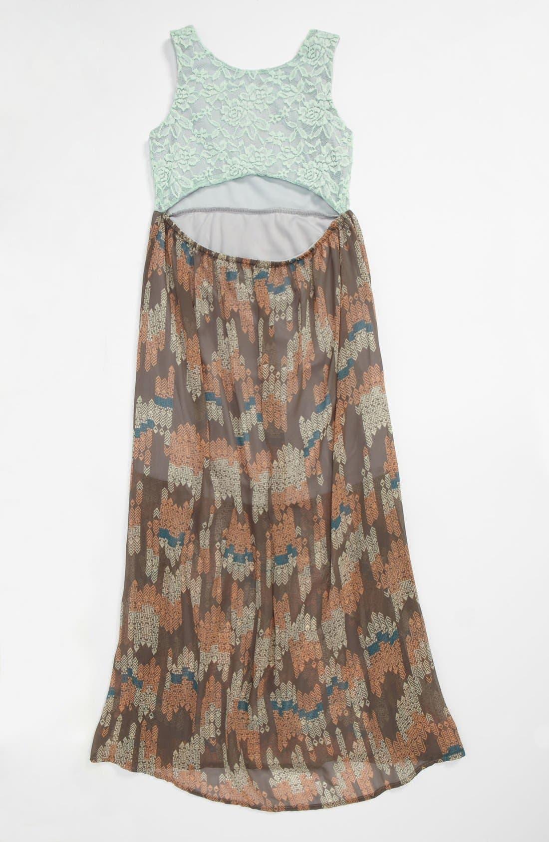 Alternate Image 2  - Kiddo Maxi Dress (Big Girls)