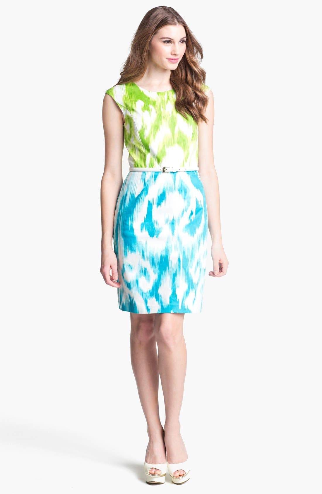 Alternate Image 1 Selected - Ellen Tracy Print Sheath Dress