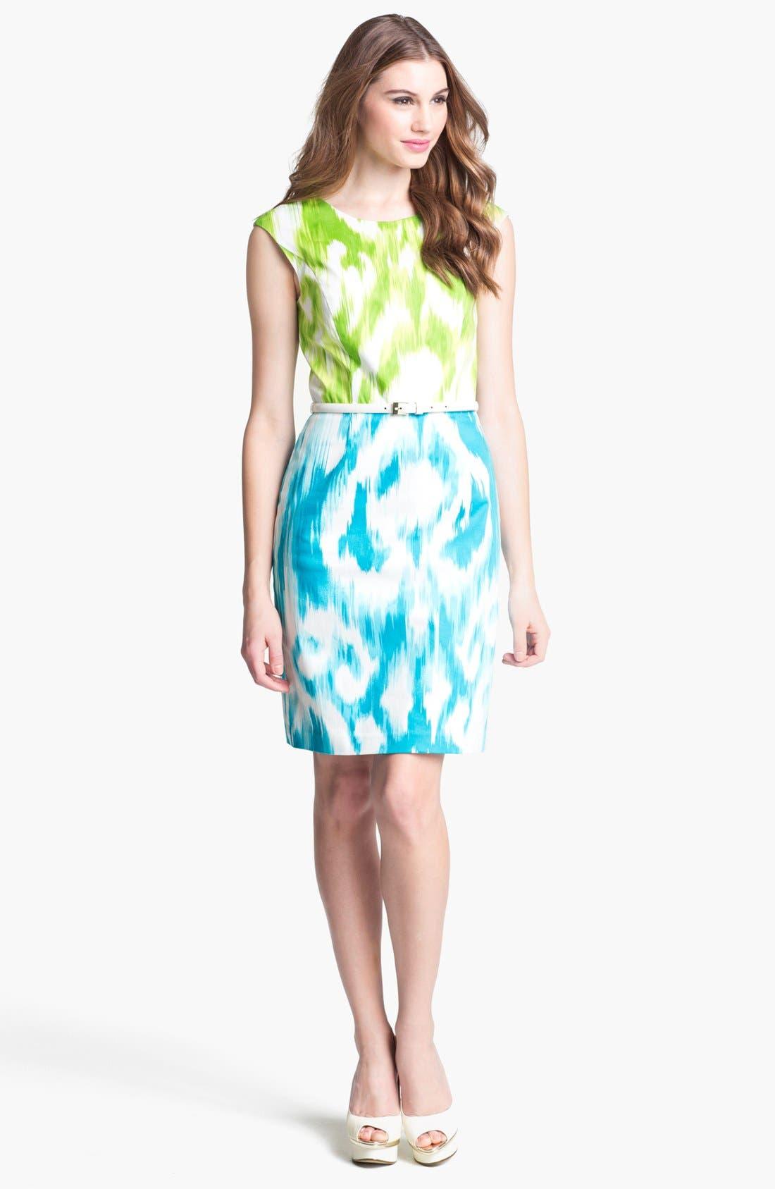 Main Image - Ellen Tracy Print Sheath Dress