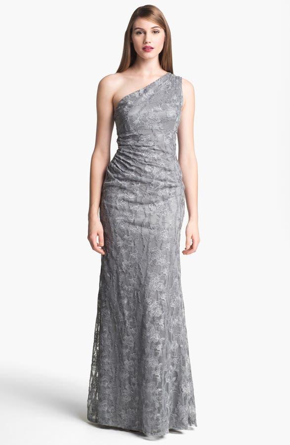 David Meister One Shoulder Lace Gown | Nordstrom