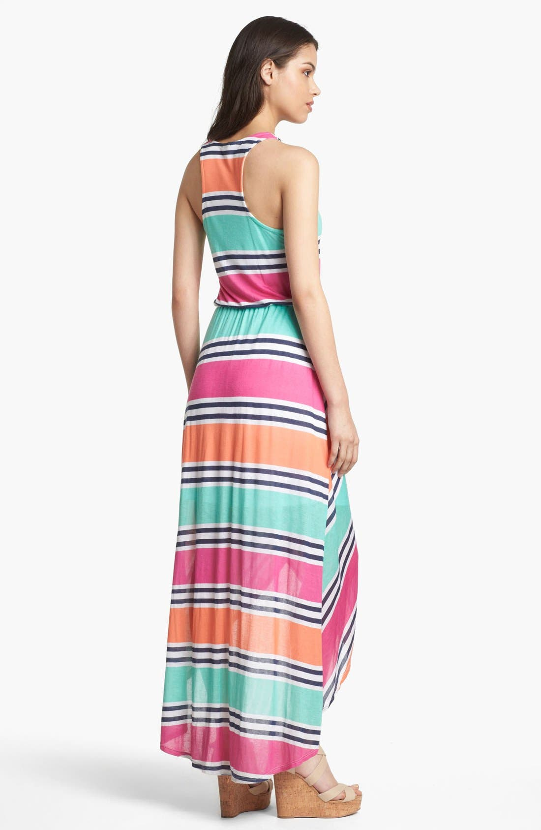 Alternate Image 2  - Splendid Stripe Faux Wrap Maxi Dress