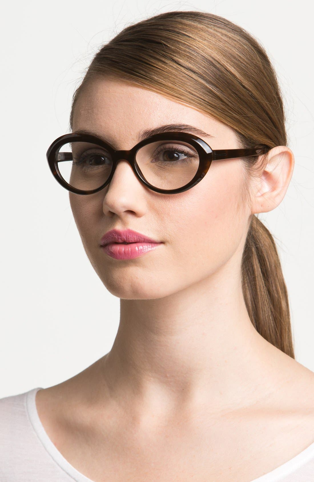51mm Optical Glasses,                         Main,                         color, Shiny Dark Havana