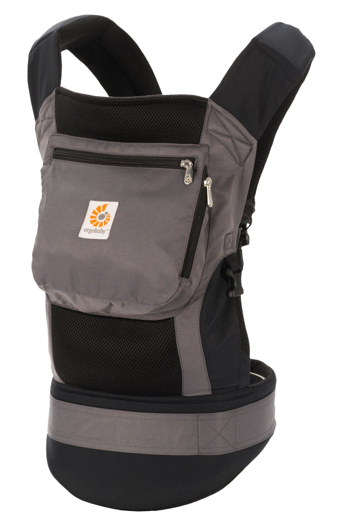 'Performance' Baby Carrier,                         Main,                         color, Charcoal / Black