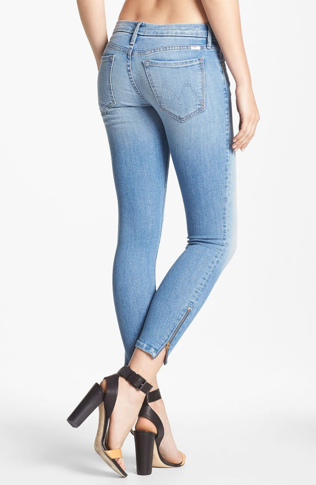 Alternate Image 2  - MOTHER 'The Looker' Ankle Zip Skinny Jeans (Light Kitty)