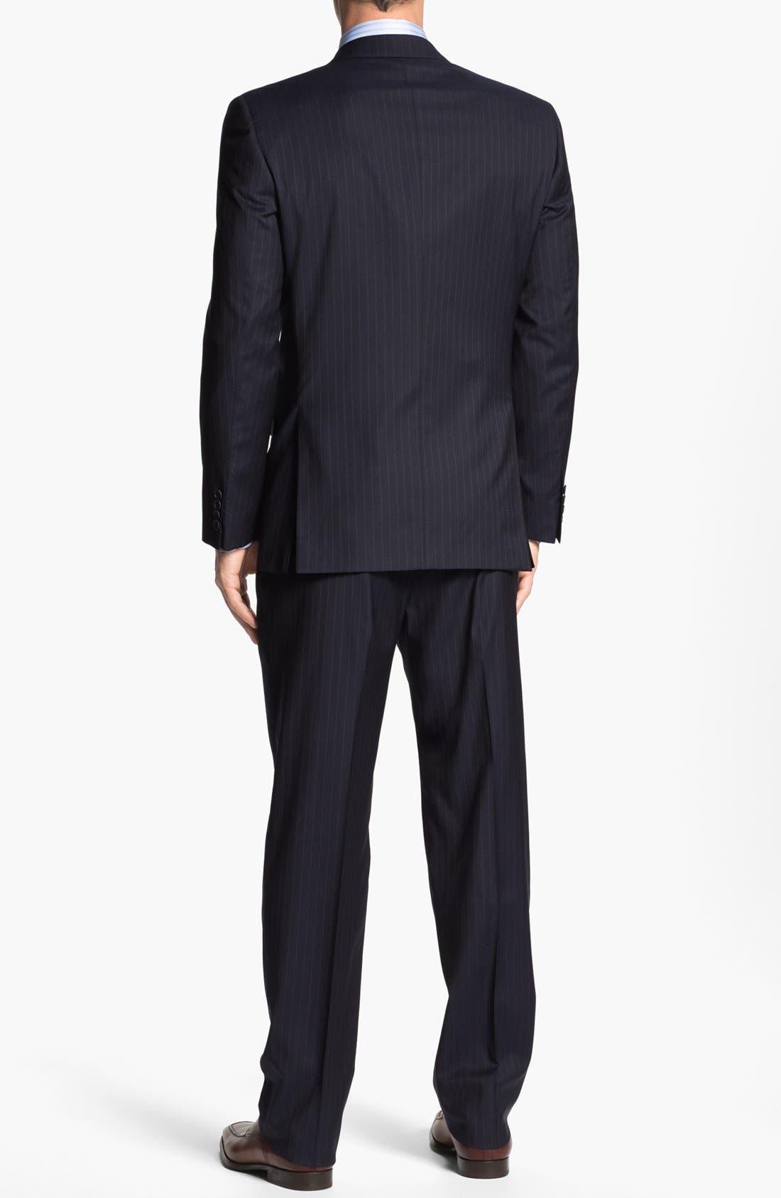 Alternate Image 3  - Joseph Abboud 'Signature Silver' Stripe Wool Suit