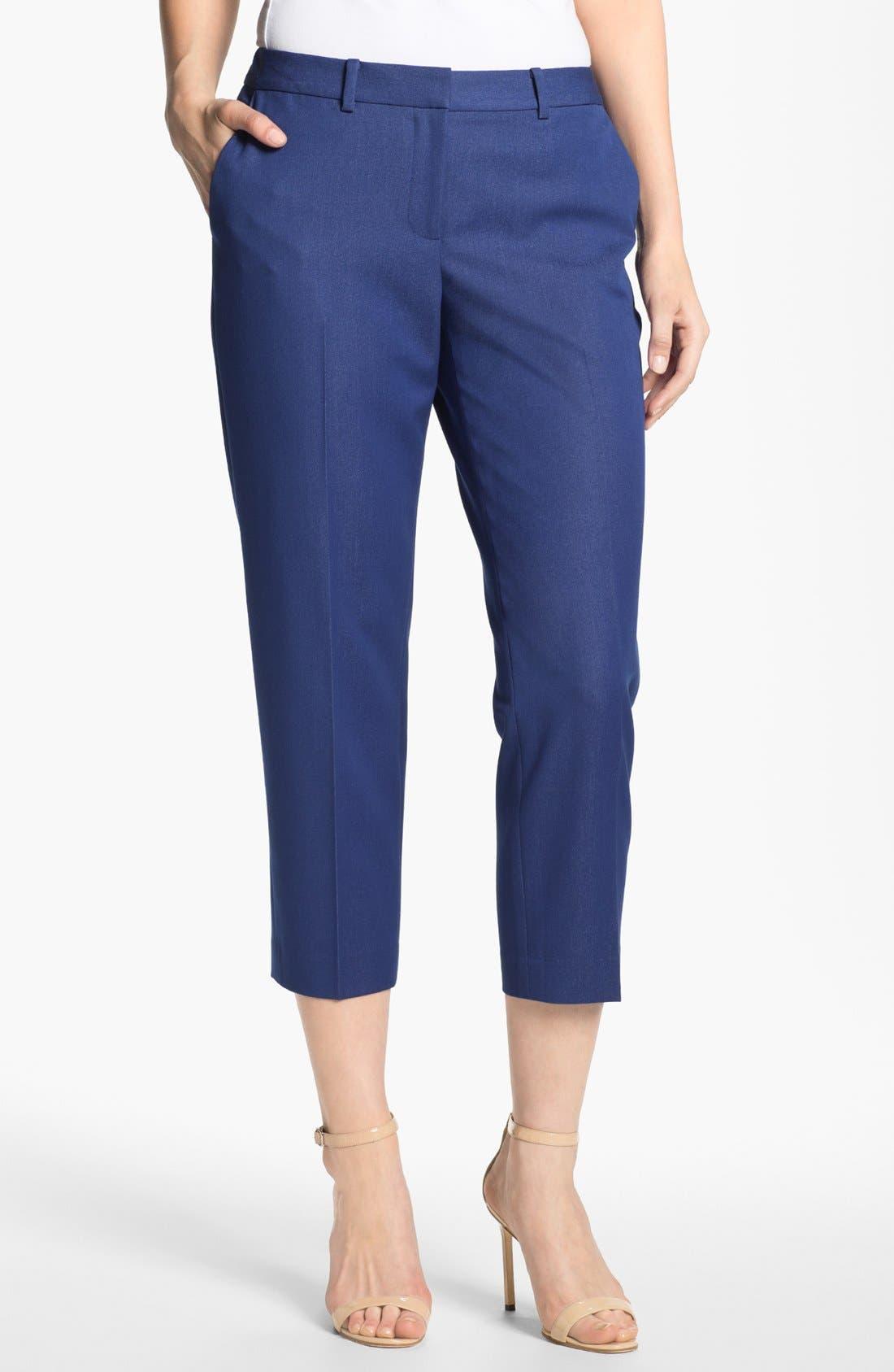 Alternate Image 1 Selected - T Tahari 'Cabana' Crop Pants (Petite) (Online Only)