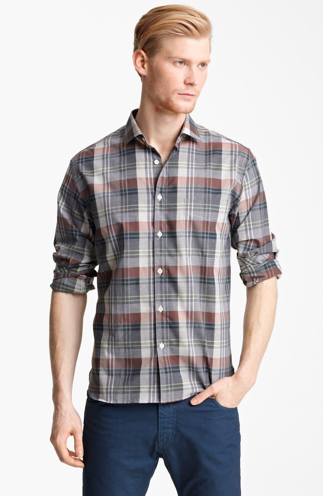 Main Image - Billy Reid 'John T' Plaid Woven Shirt