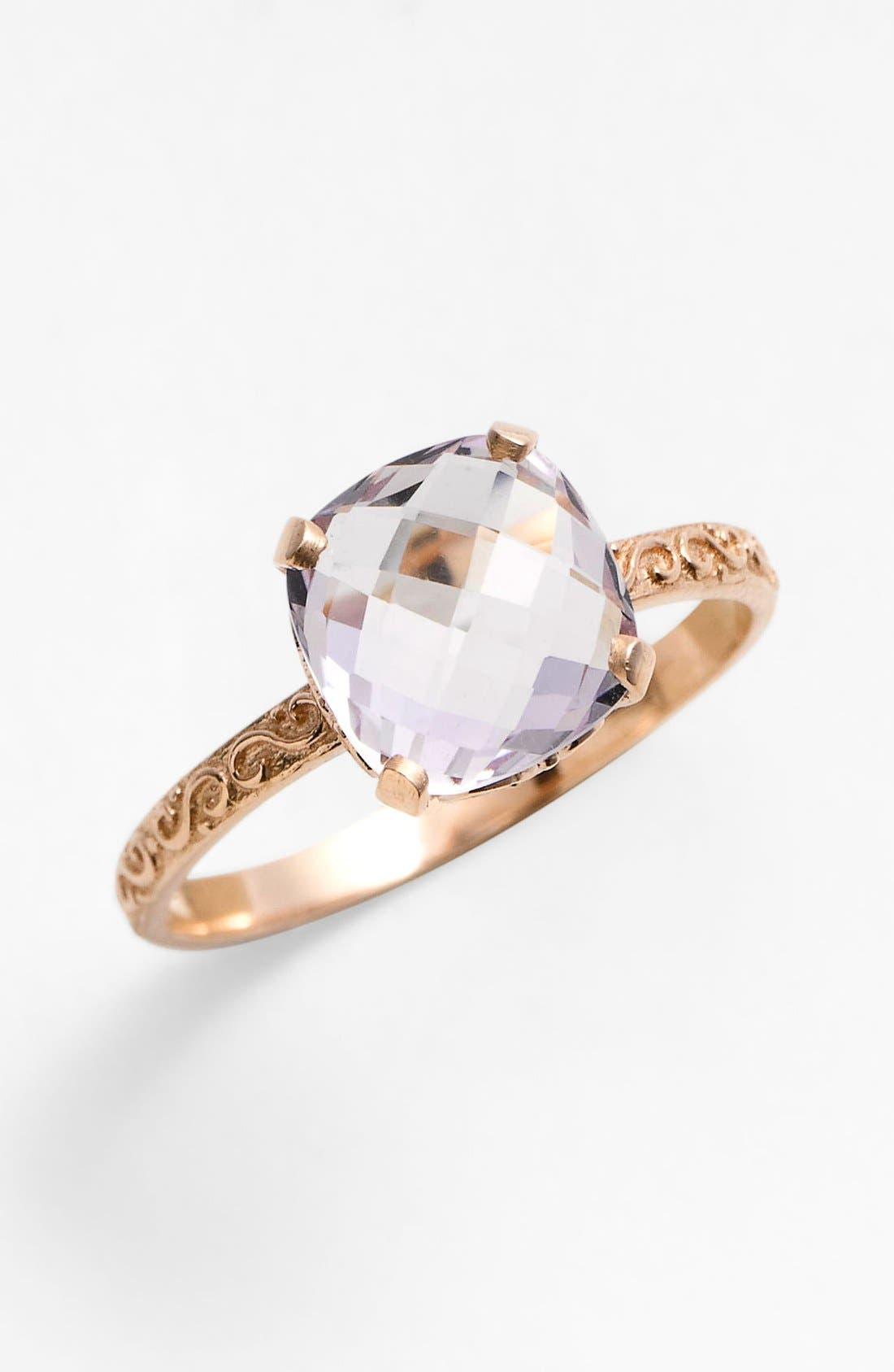 Main Image - KALAN by Suzanne Kalan Cushion Stone Filigree Ring