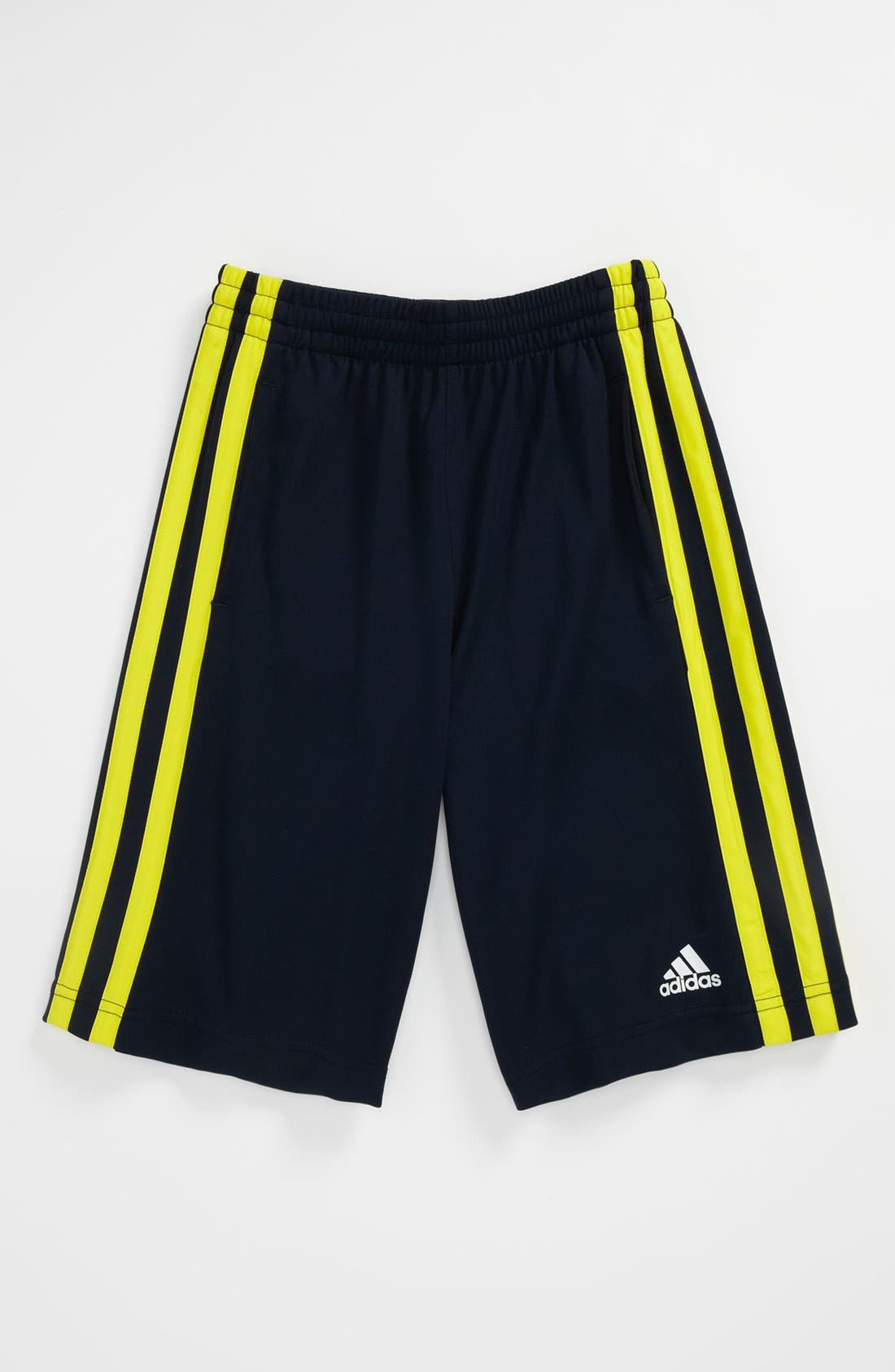 Main Image - adidas 'Fat Stripes' Shorts (Big Boys)