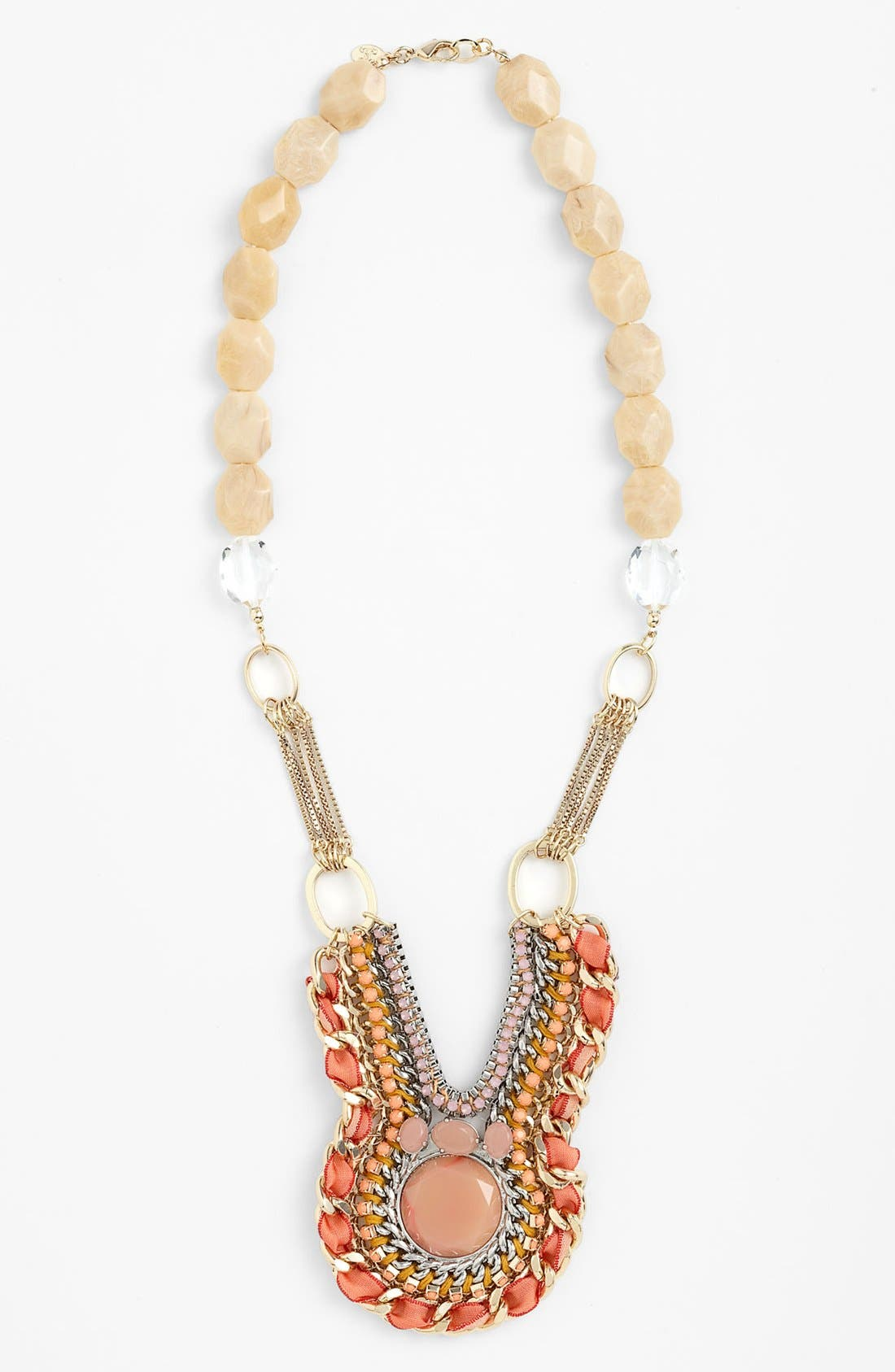 Main Image - Lydell NYC Mixed Media Statement Bib Necklace