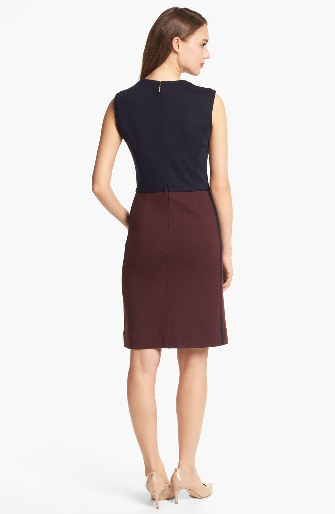 Alternate Image 2  - Tory Burch 'Brianna' Colorblock Sheath Dress
