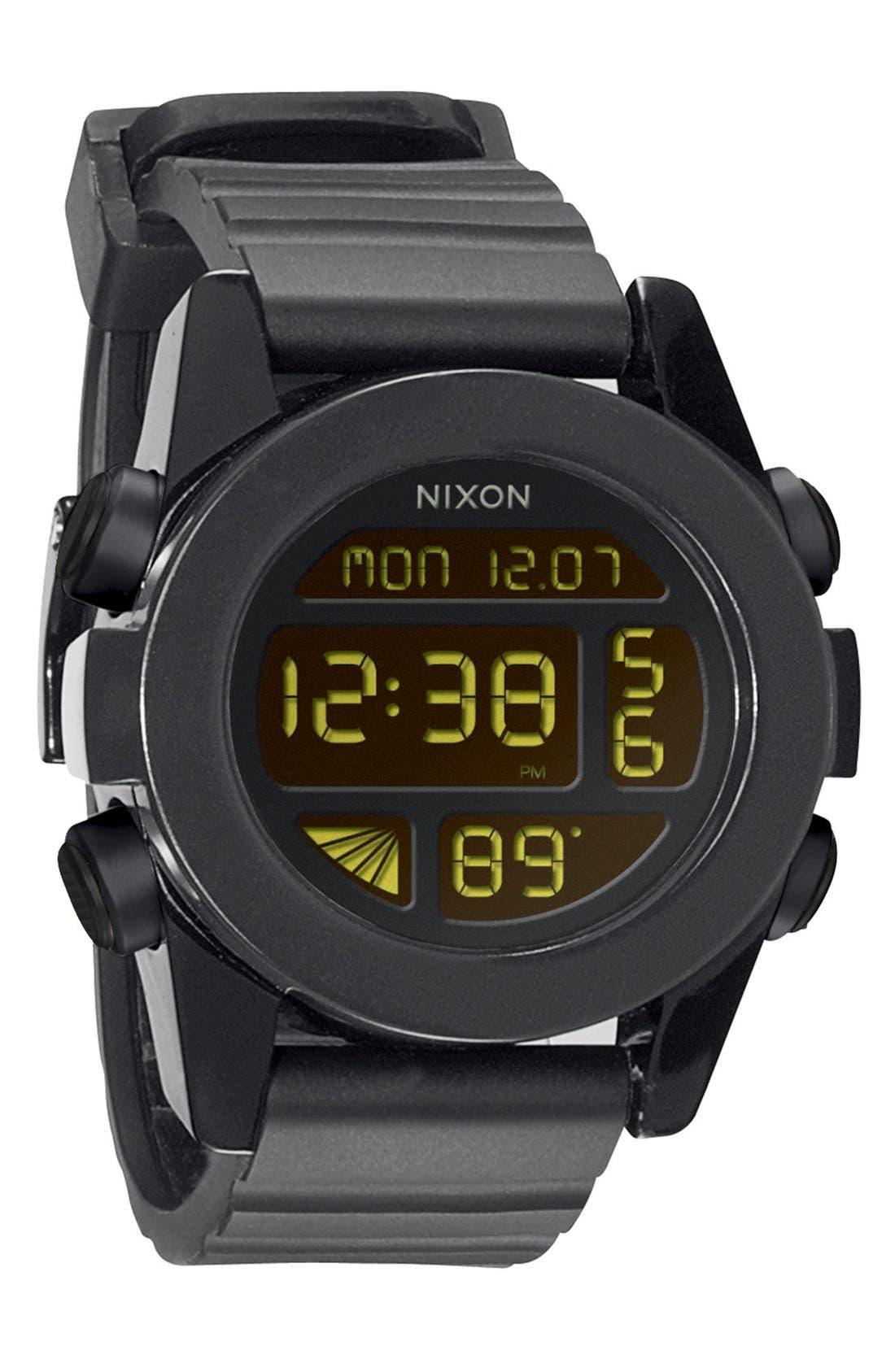 Nixon 'The Unit' Round Digital Watch, 44mm