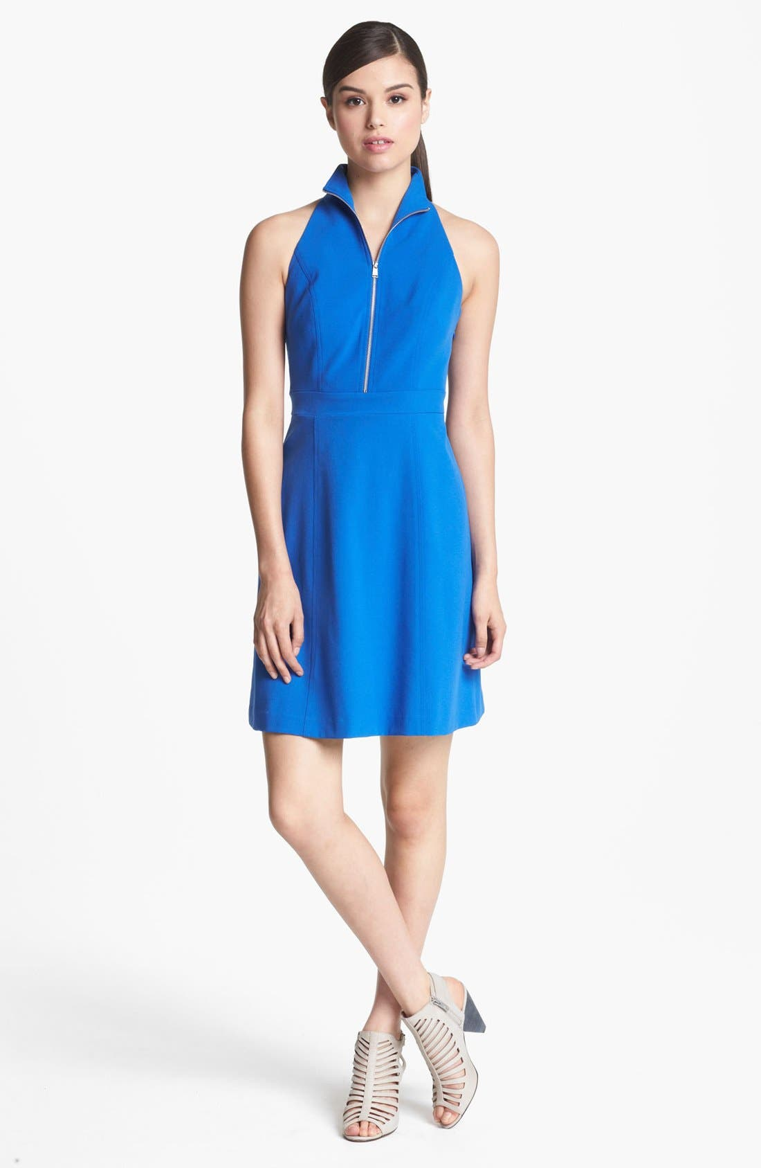 Alternate Image 1 Selected - Marc New York by Andrew Marc Sleeveless Zip Front A-Line Dress