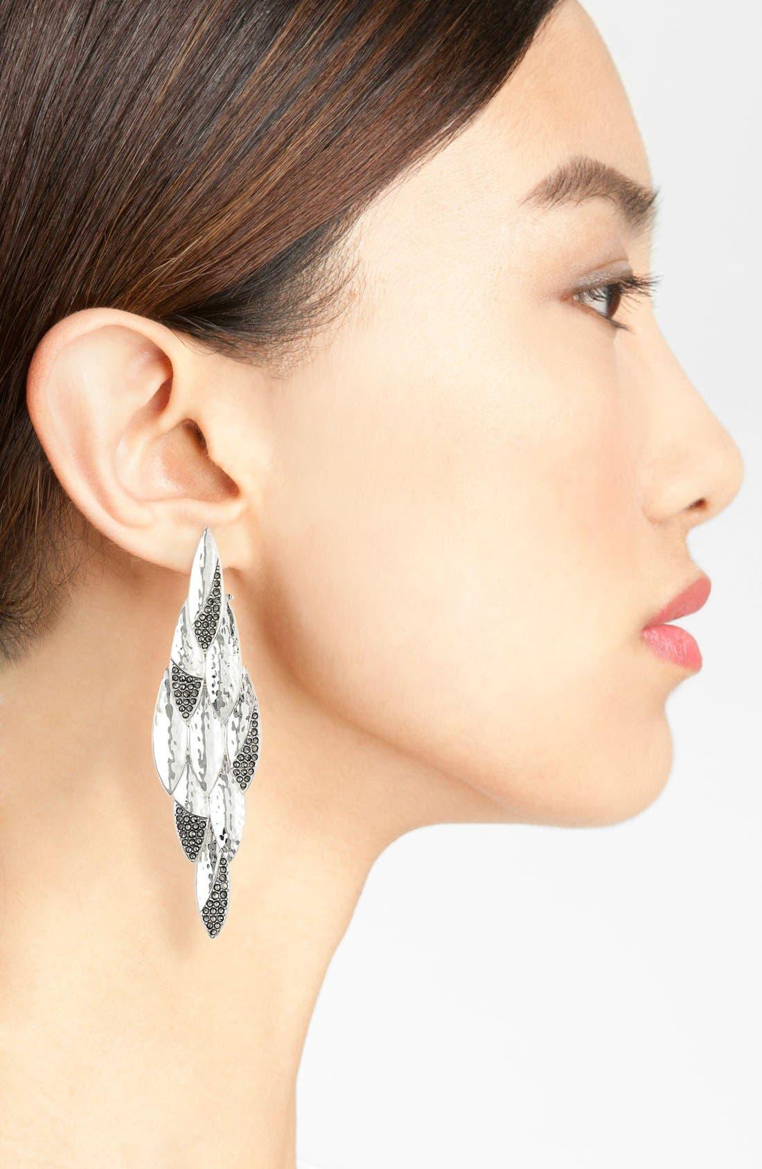 Alternate Image 2  - Judith Jack 'Silver Rain' Large Chandelier Earrings (Nordstrom Exclusive)