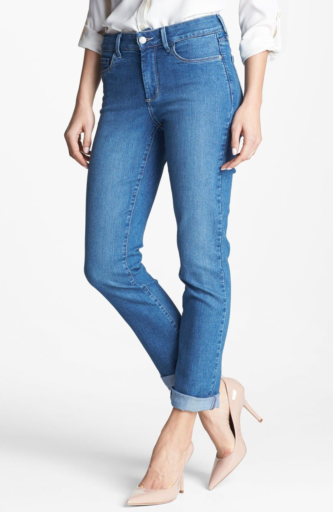 Main Image - NYDJ 'Tanya' Cuffed Stretch Boyfriend Jeans