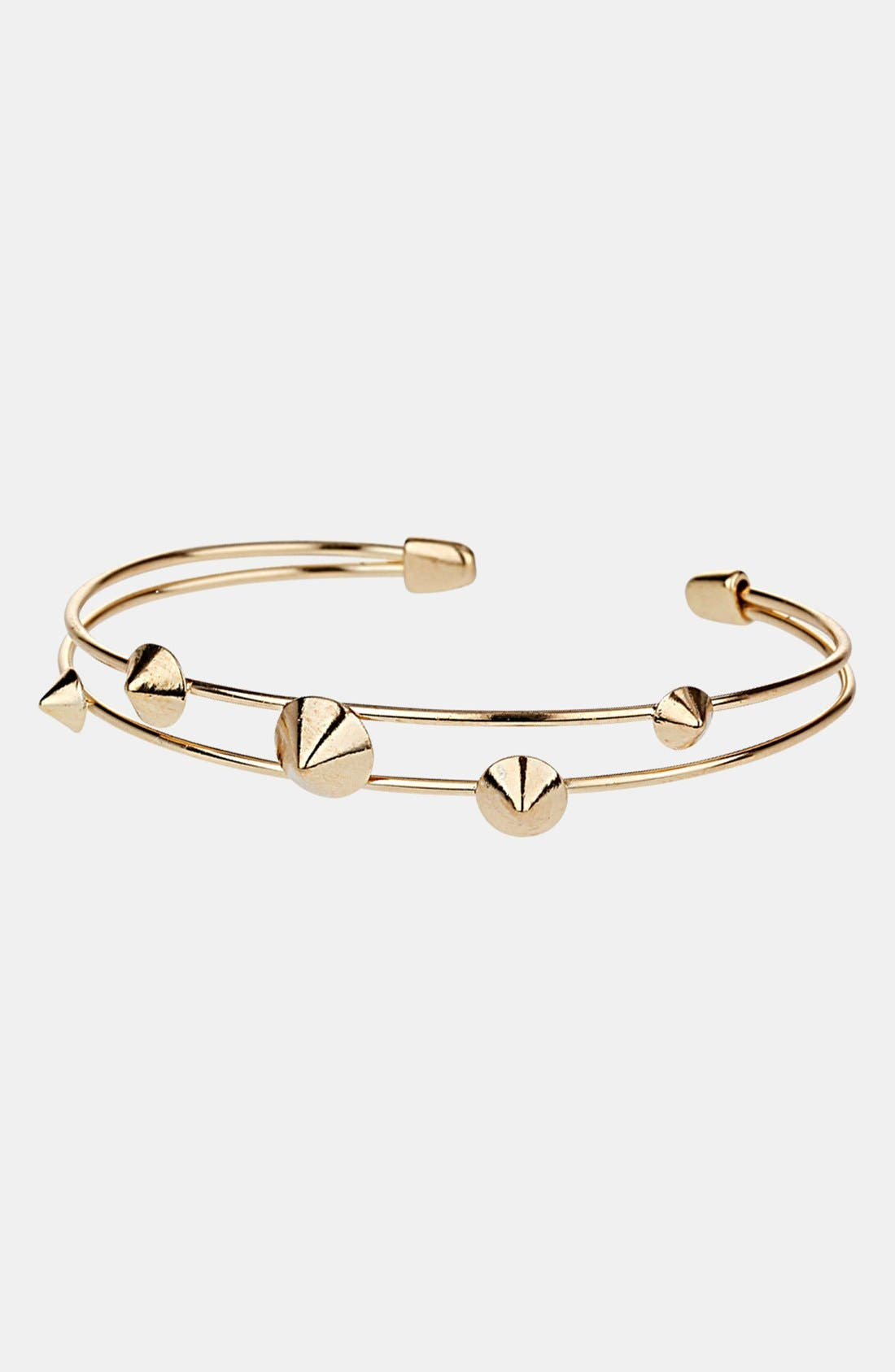 Main Image - Topshop 'Studs on Wire' Cuff Bracelet