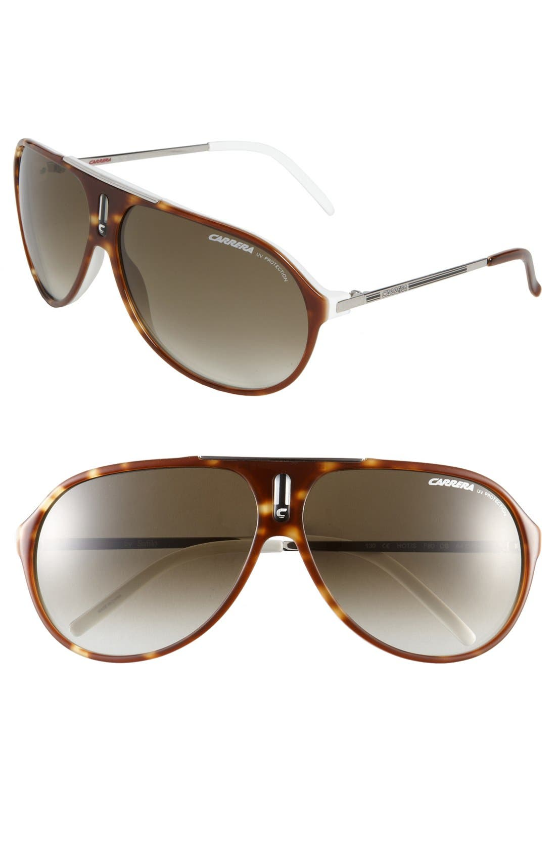 CARRERA EYEWEAR Hots 64mm Aviator Sunglasses