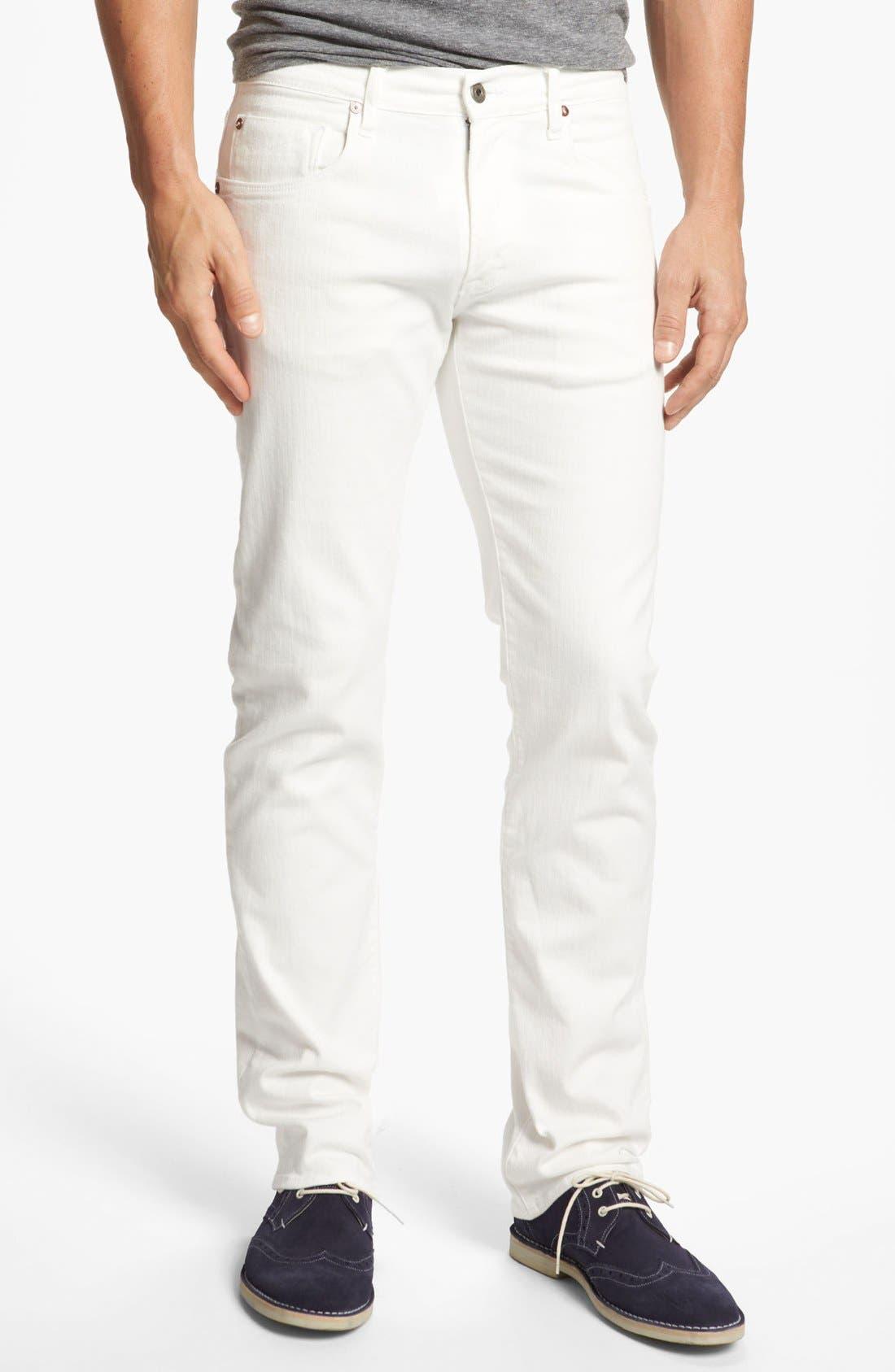 Alternate Image 1 Selected - Façonnable Tailored Denim Straight Leg Jeans