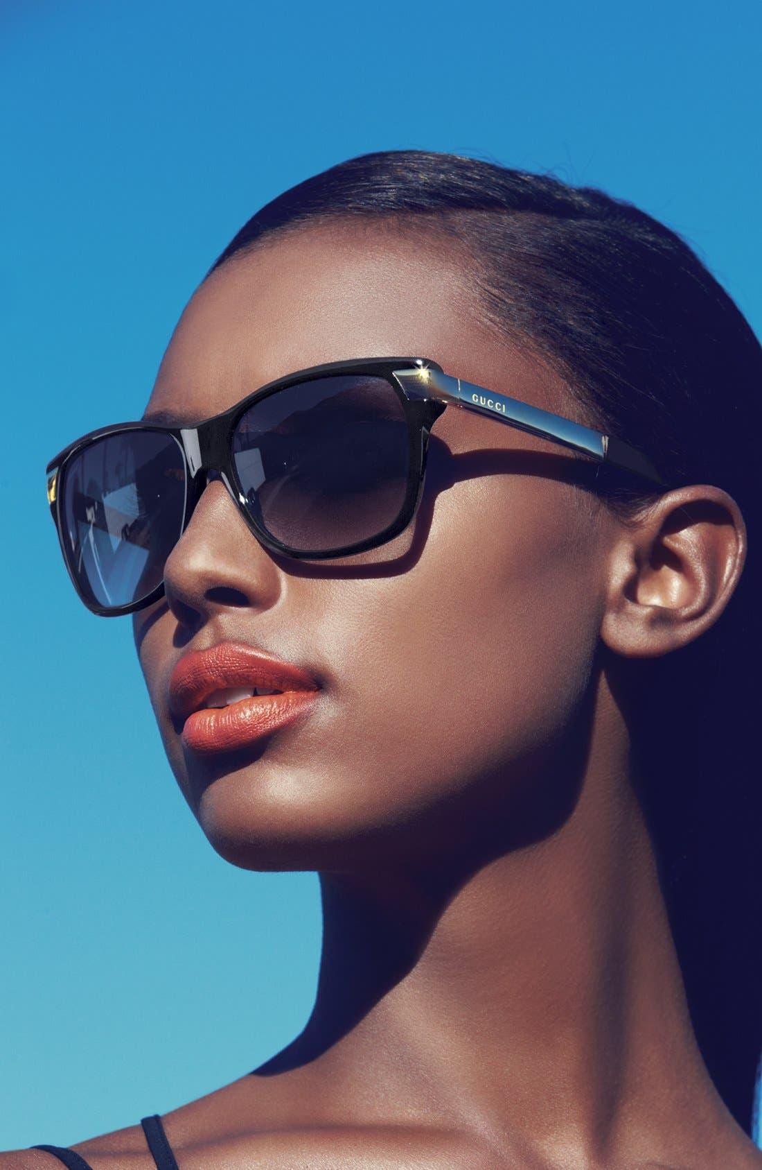 Alternate Image 2  - Gucci 57mm Sunglasses