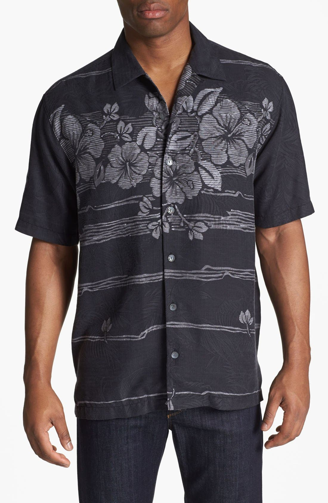 Alternate Image 1 Selected - Tommy Bahama 'Hibiscus Fade Away' Campshirt