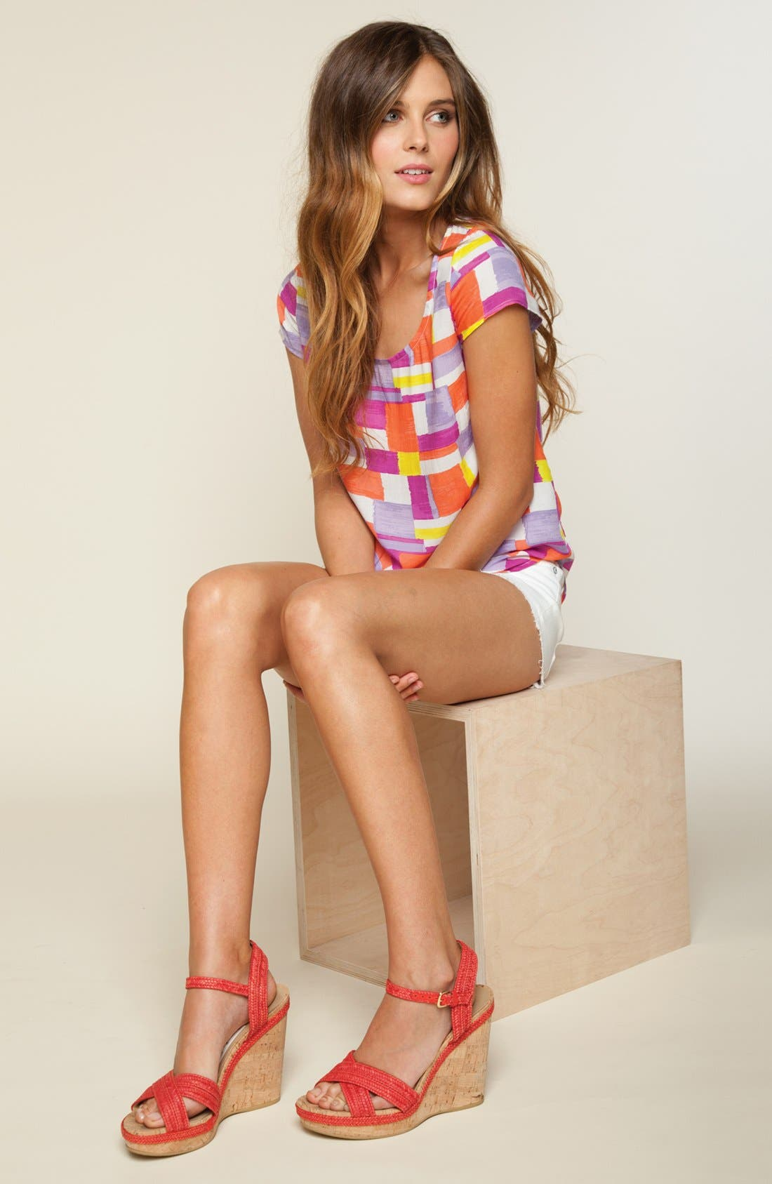 Alternate Image 1 Selected - Splendid Tee & Paige Denim Shorts