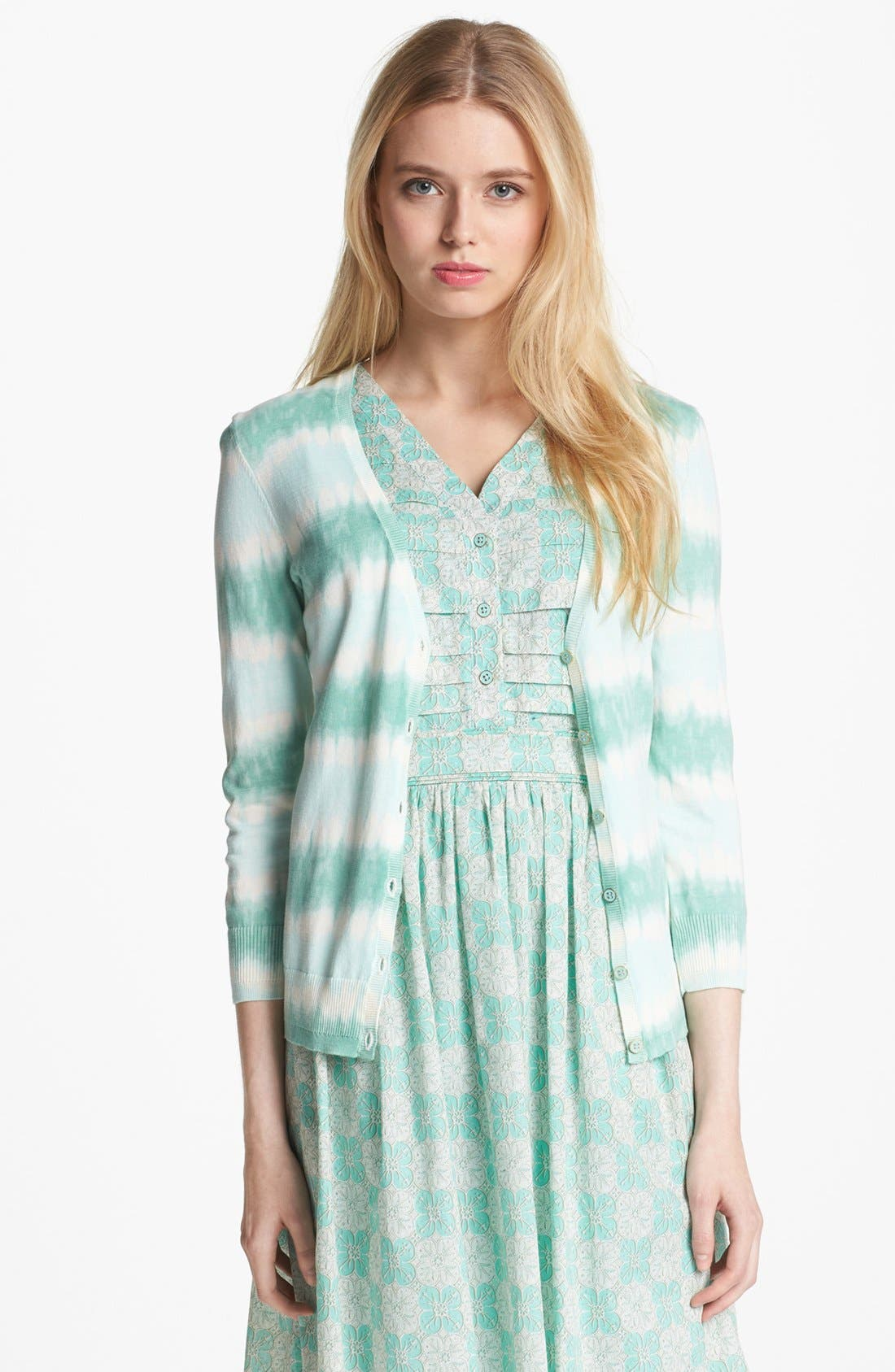 Alternate Image 1 Selected - Tory Burch 'Theo' Stripe Cardigan