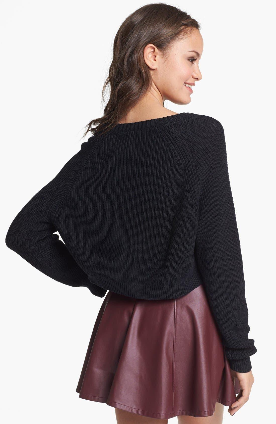 Alternate Image 2  - Rubbish® Crop Pullover (Juniors)