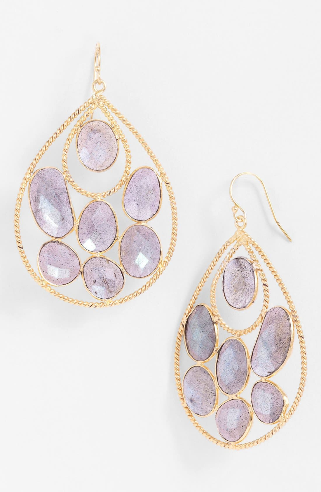 Main Image - NuNu Designs Cluster Stone Teardrop Earrings