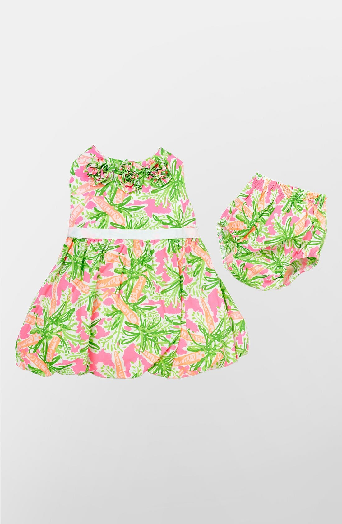 Main Image - Lilly Pulitzer® 'Britta Baby' Bubble Dress & Bloomers (Baby)