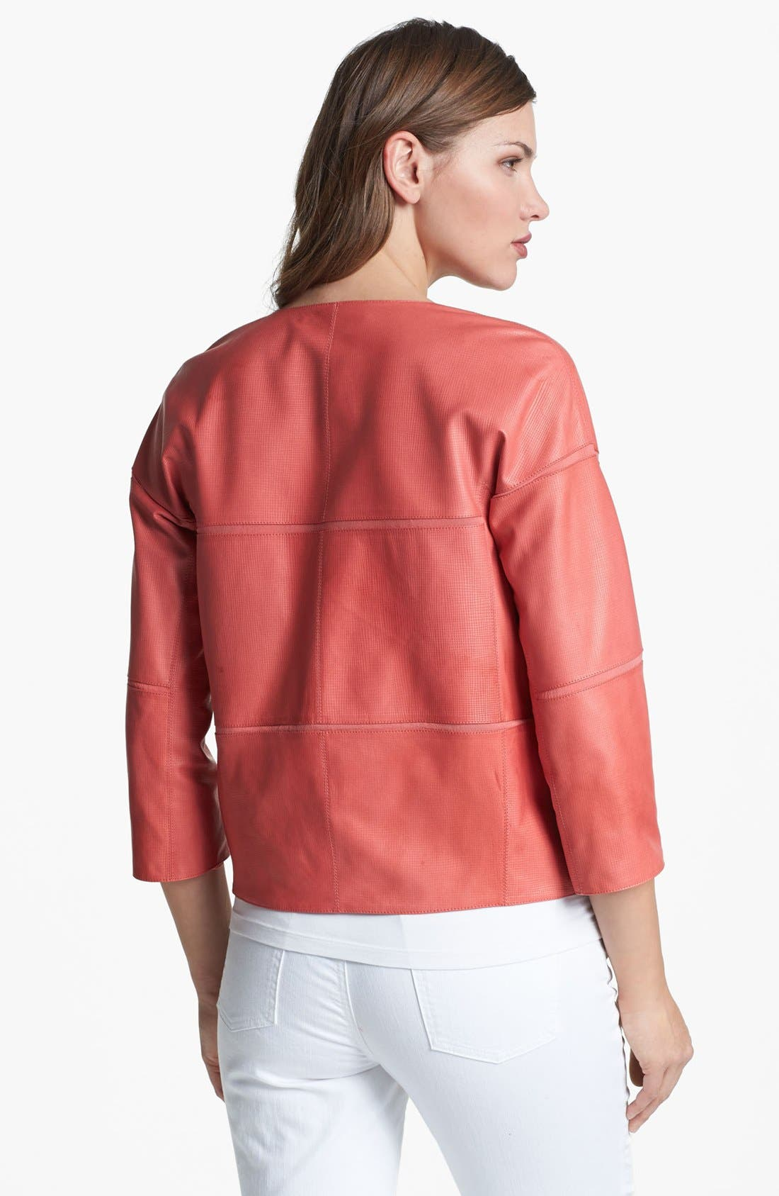 Alternate Image 2  - Lafayette 148 New York Lambskin Leather Jacket
