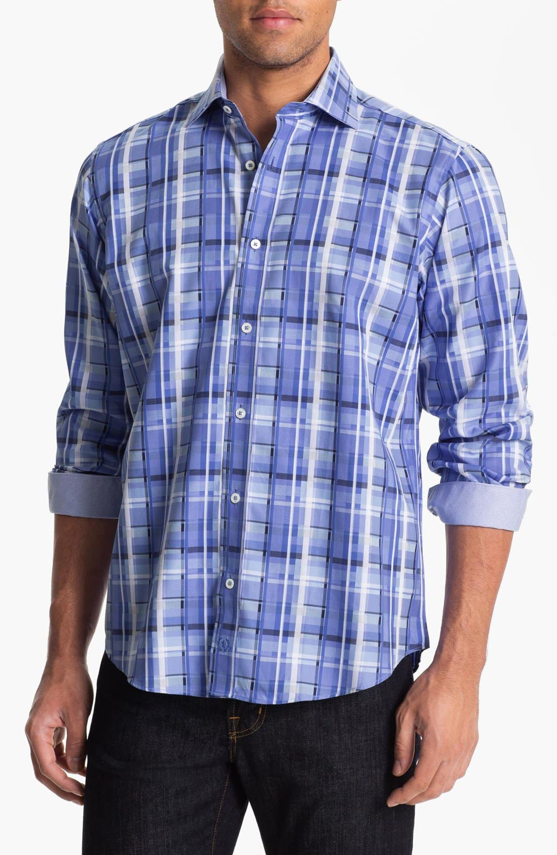 Main Image - BUGATCHI Classic Fit Sport Shirt (Tall)