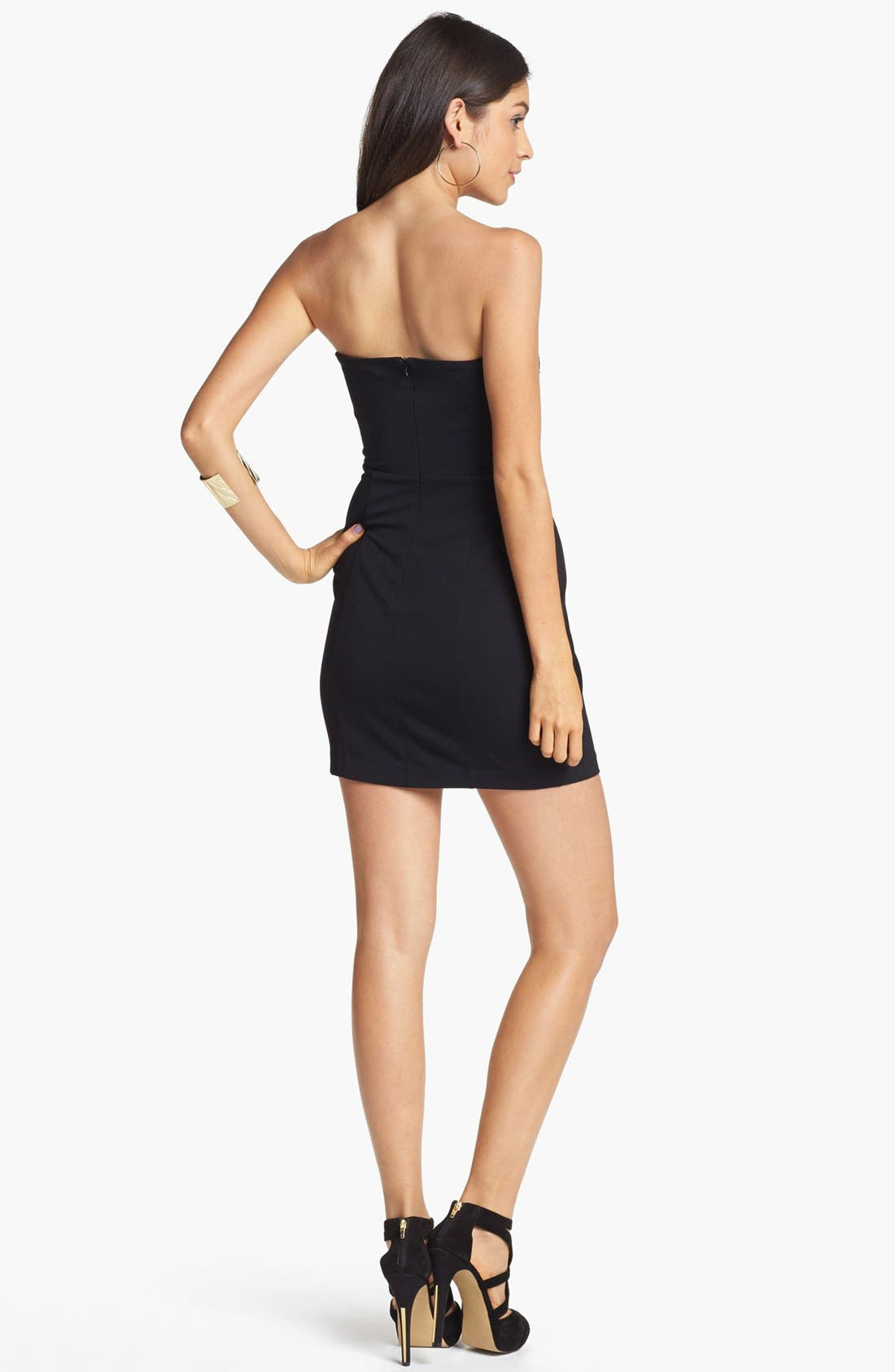 Alternate Image 2  - Lush Embellished Body-Con Dress (Juniors) (Online Only)
