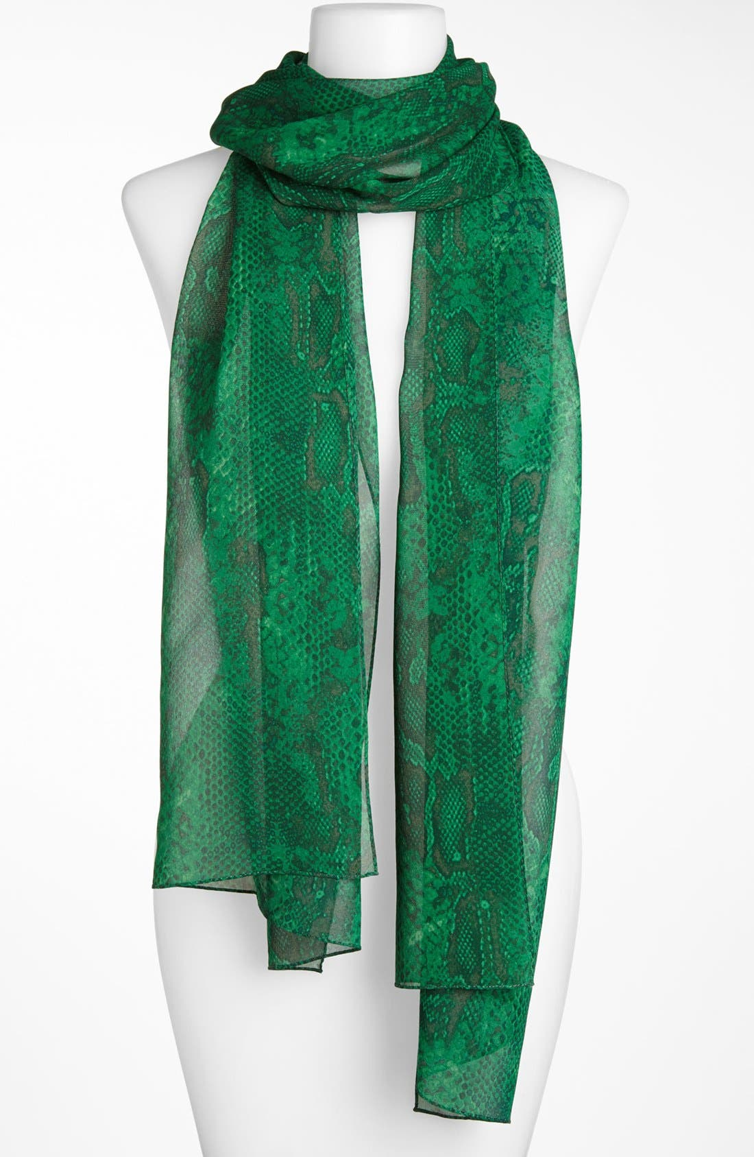 Alternate Image 1 Selected - St. John Collection Python Print Silk Georgette Scarf