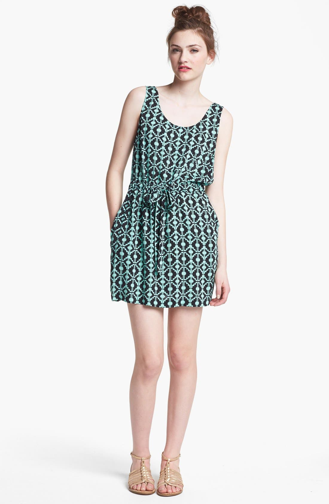 Main Image - Mimi Chica Tank Skater Dress (Juniors) (Online Only)