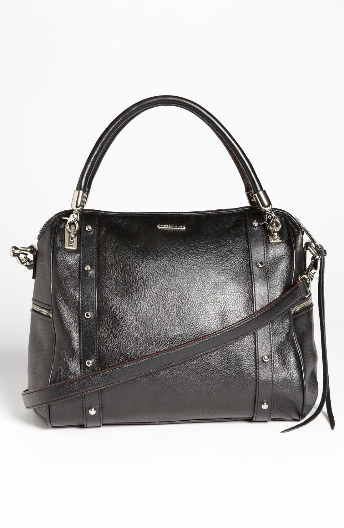 Alternate Image 4  - Rebecca Minkoff 'Cupid' Leather & Calf Hair Satchel, Large