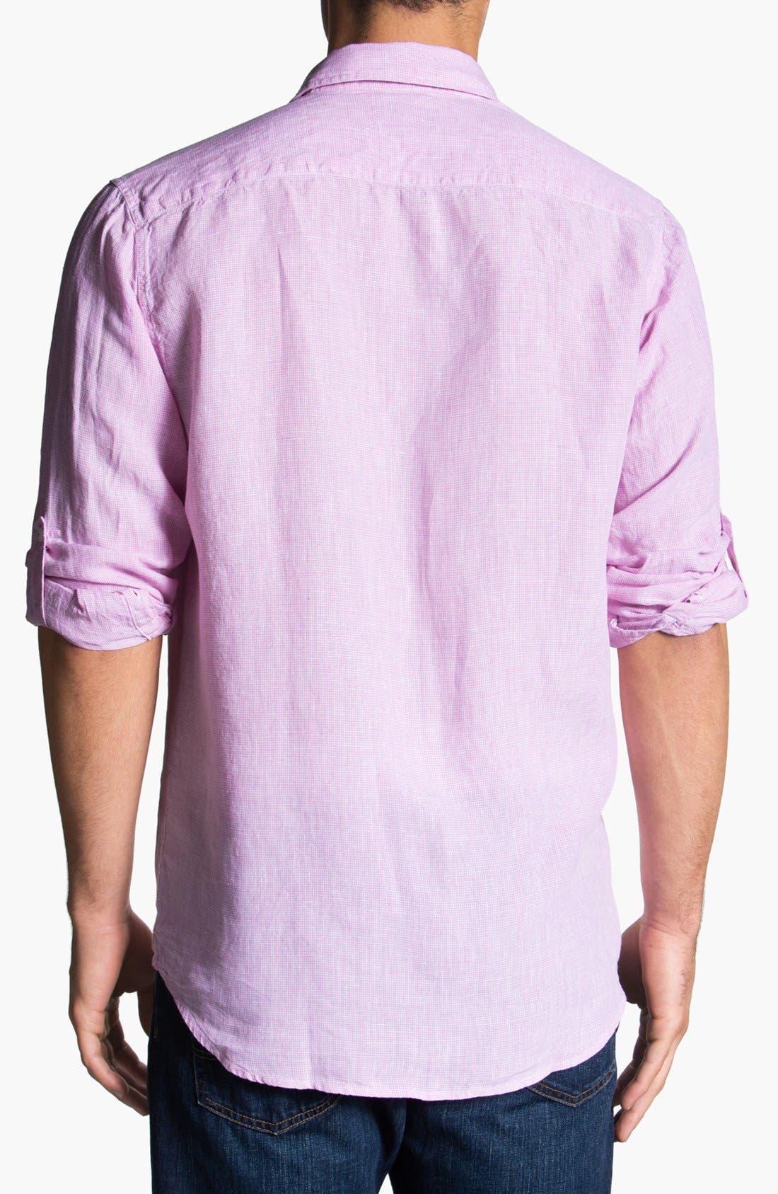 Alternate Image 2  - Toscano Linen Sport Shirt (Big & Tall)