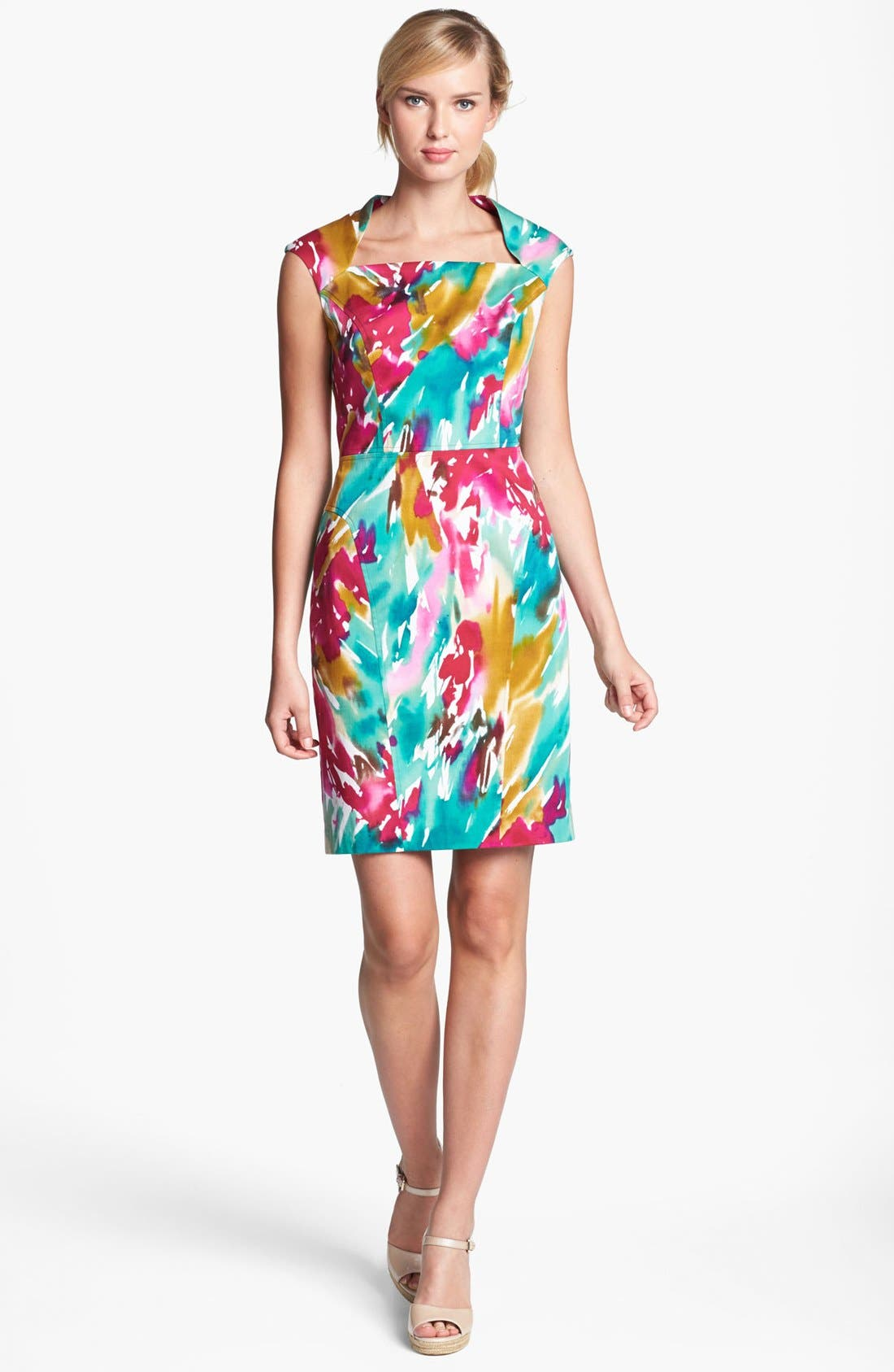 Main Image - Adrianna Papell Floral Shift Dress