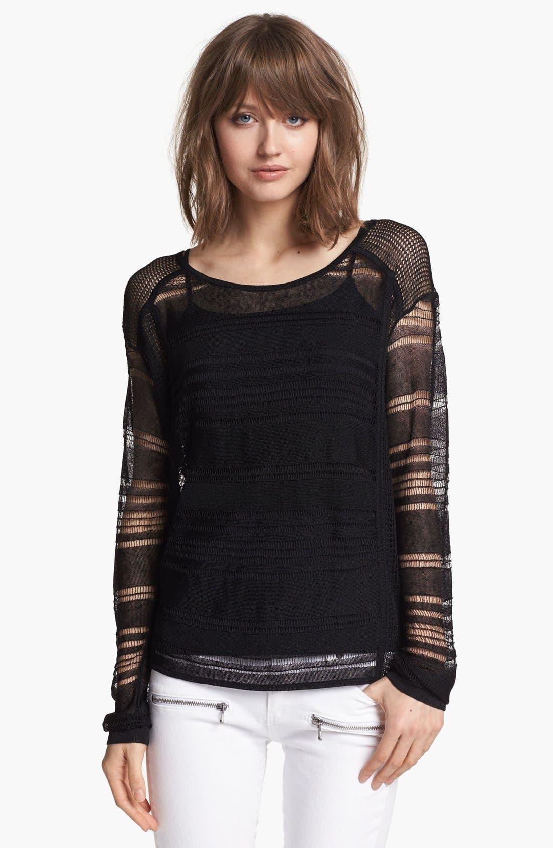Alternate Image 1 Selected - Trouvé Multi Stitch Linen Sweater