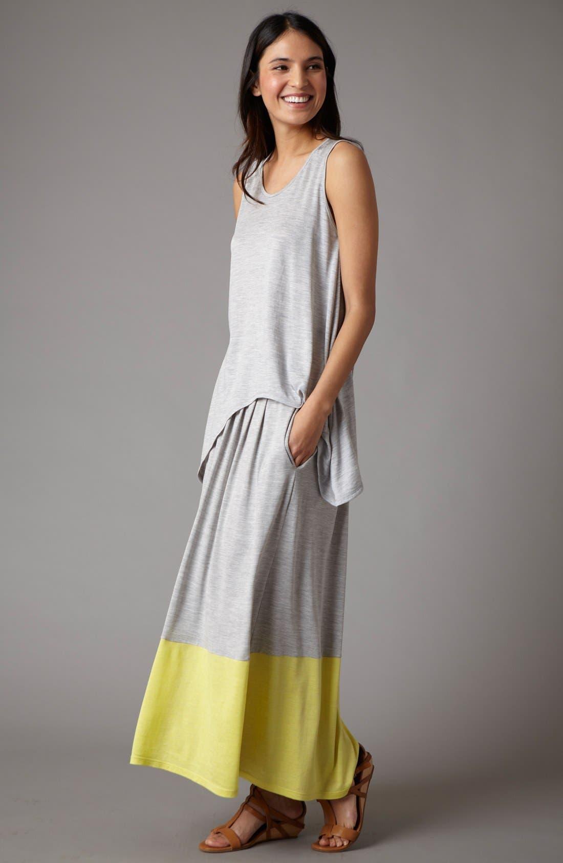 Alternate Image 4  - Eileen Fisher Pleated Colorblock Midi Skirt (Regular & Petite)