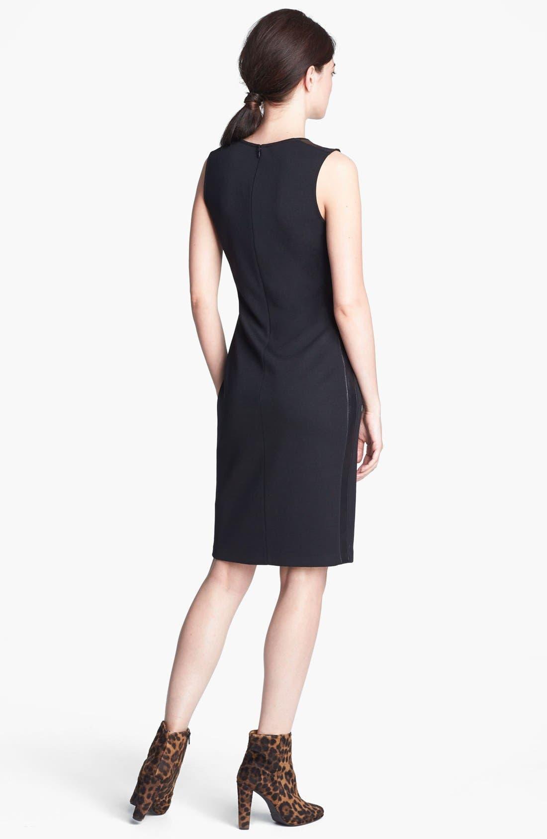 Alternate Image 2  - St. John Collection Leather Trim Milano Knit Dress